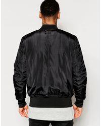 ASOS - Bomber Jacket With Ma1 Pocket In Black for Men - Lyst