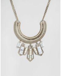 Oasis - Metallic Statement Semi Precious Necklace - Lyst