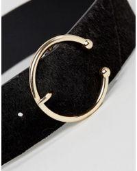 Glamorous - Black Pierce Buckle Waist Belt - Lyst