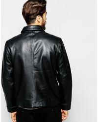 ADPT Black Leather Jacket for men