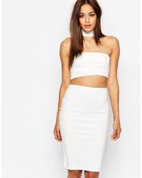 Missguided - Pink Cut Out Choker Detail Bodycon Dress - Lyst
