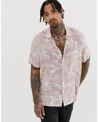 Chemise décontractée à imprimé pastel style 90's ASOS pour homme en coloris Pink
