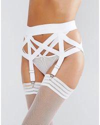 ASOS Extreme Elastic Suspender - White