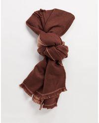 Коричневый Шарф -красный Y.A.S, цвет: Brown