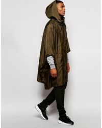 ASOS - Multicolor Festival Packable Poncho With In Khaki for Men - Lyst