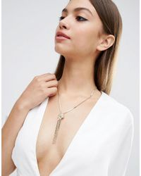 ASOS - Metallic Knot Chain Necklace - Lyst