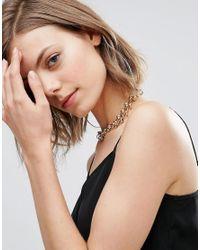 ASOS | Metallic Circle Links Choker Necklace | Lyst