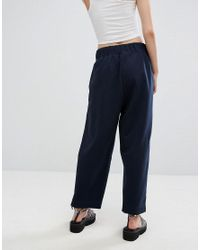Weekday Blue Amelia Woven Trousers