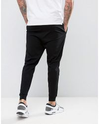ASOS Black Drop Crotch Joggers In Lightweight Jersey for men