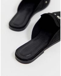 ASOS Magpie - Puntige Muiltjes Met Studs in het Black