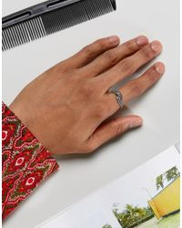 ASOS - Metallic Sterling Silver Ring With Dragon Wing Design - Lyst