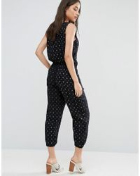 d.RA - Blue Marrianne Patterened Jumpsuit - Lyst