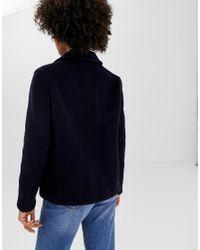 Farlie - Duffle-coat court en laine mélangée Gloverall en coloris Blue