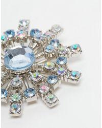 ASOS | Blue Pretty Rhinestone Brooch | Lyst