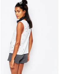 Blue Life - White Ripped Side Slit Tank Top - Lyst