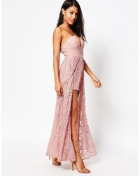 Love Triangle Pink Lace Maxi Playsuit