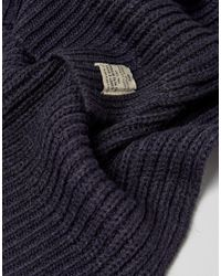 Jack & Jones - Blue Scarf In Mixed Yarn Detail for Men - Lyst