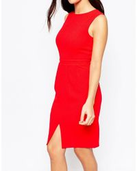 ASOS Red Sleeveless Wiggle Dress