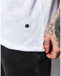 Criminal Damage   White Trek Longline T-shirt for Men   Lyst