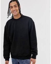 Weekday Black Big Steve Sweatshirt for men