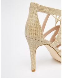 Carvela Kurt Geiger - Natural Luck Ghillie Heeled Sandals - Lyst