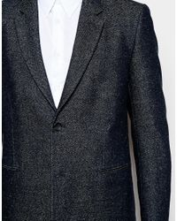 PS by Paul Smith Blue Overcoat In Navy for men