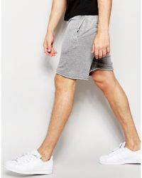 Another Influence - Gray Nother Influence Burnout Jersey Shorts for Men - Lyst