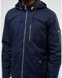 Farah - Blue Rampton Hooded Zip Thru Jacket for Men - Lyst
