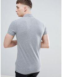 BOSS by Hugo Boss Gray Passenger Box Logo Polo Shirt for men