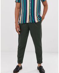 Pantalones Topman de hombre de color Green