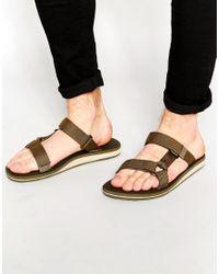 Teva - Green Universal Slide Sandal for Men - Lyst