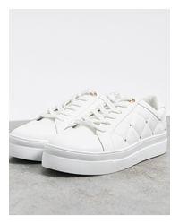 Белые Стеганые Кроссовки -белый TOPSHOP, цвет: White