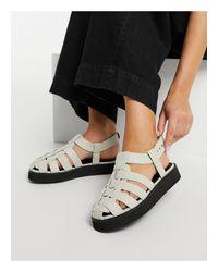 Кремовые Кожаные Туфли Премиум-класса В Рыбацком Стиле На Плоской Подошве ASOS, цвет: Black
