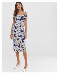 Closet - Vestito longuette con spalle scoperte di Closet in Blue