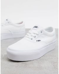 Белые Парусиновые Кеды На Платформе Doheny-белый Vans, цвет: White