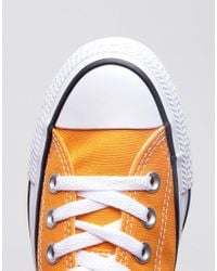 Converse - Chuck Taylor All Star Ox Trainers In Orange - Lyst