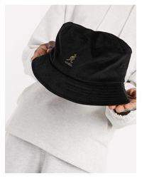 Черная Вельветовая Панама -черный Kangol для него, цвет: Black