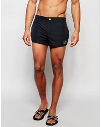 EA7 Black Emporio Armani Tailored Swim Shorts for men