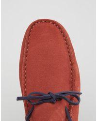 Bobbies - Orange Le Tombeur Suede Driving Shoes - Lyst