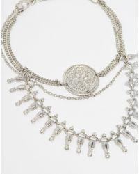ASOS - Metallic Coin Drape Arm Cuff - Lyst