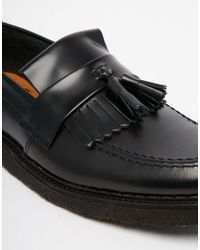 Fred Perry - Black X George Cox Leather Tassel Loafers for Men - Lyst