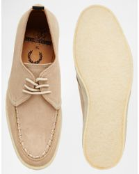 Fred Perry - Natural X George Cox Creeper Shoes for Men - Lyst