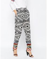Ganni - Multicolor Silk Newport Trousers - Lyst