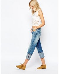 Pepe Jeans - Blue Donna Turn Up Loose Fit Jean - Lyst