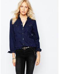 Pepe Jeans | Blue Denim Shirt | Lyst