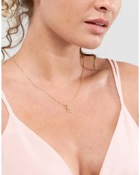 Dogeared - Metallic Gold Plated One In A Million Celestial Star Pendant With Sparkle Necklace - Lyst