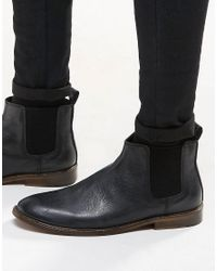 New Look Leather Chelsea Boots In Black - Black for men