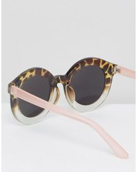 A.J. Morgan - Brown Round Ombre Mirror Sunglasses - Lyst