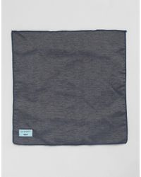 Minimum - Black Tie And Pocket Square Set In Chambray for Men - Lyst