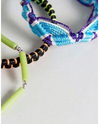ASOS | Blue Coloured Bracelet Pack | Lyst